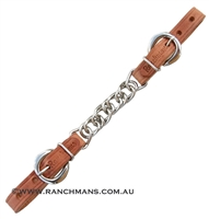 Ranchman's Leather Flat Curb Chain