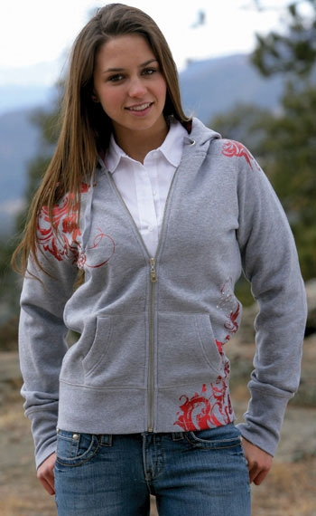 Cruel Girl® Ladies Heathered Grey Foil Hoodie