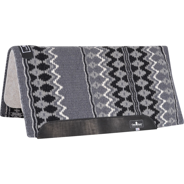 "Classic Equine® Wool Top Saddle Pad 32"" x 34"" Charcoal & Black"