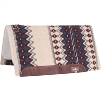 "Classic Equine® Wool Top Saddle Pad 32"" x 34"" Ivory & Navy"