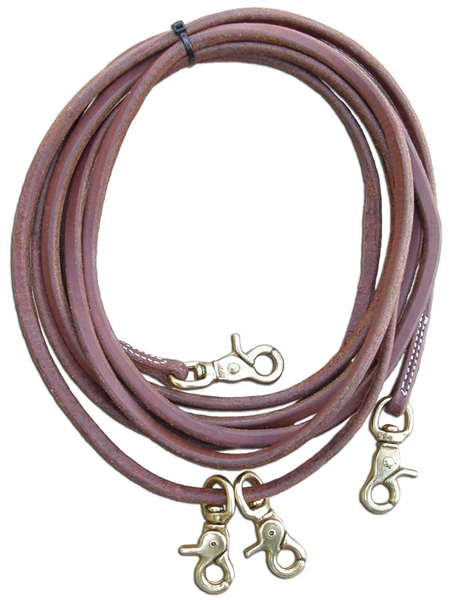 Ranchman's Heavy Oiled Harness Leather Draw Reins