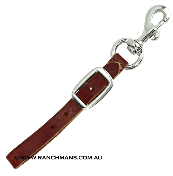 Ranchman's Leather Back Cinch Connector Strap w/Snap