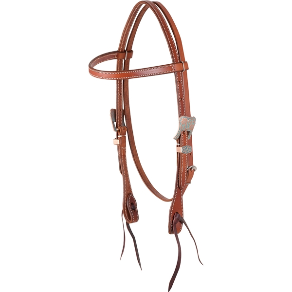 Martin Saddlery© Copper Patina Browband Headstall