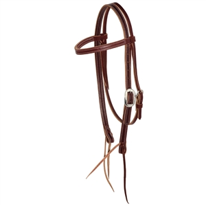 "Ranchman's 3/4"" Latigo 4 Row Stitch Browband Bridle"