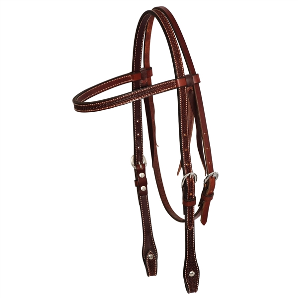 Ranchman's Rosewood Spider Stamp Browband Bridle