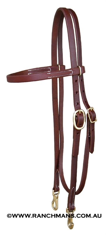 Ranchman S 5 8 Quot Harness Leather Browband Headstall W Brass