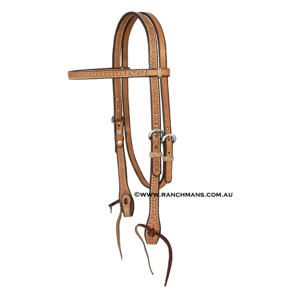 "Ranchmans Running ""W"" Browband Headstall"