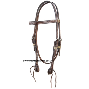 Ranchman's Oiled Running W Browband Bridle