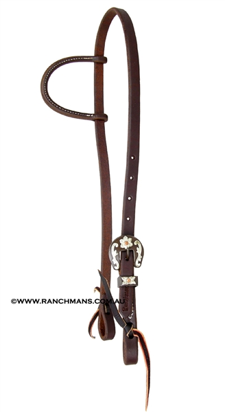 Ranchmans Floral Buckle Slip Ear Headstall