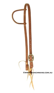 Ranchman's Sliding One Ear Harness Leather Bridle