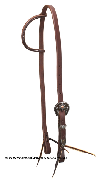 Ranchmans One Ear Harness Headstall w/Snowflake Buckle Set