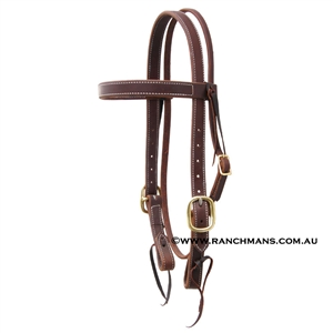 "Ranchman's 1"" Browband Snaffle Bridle"
