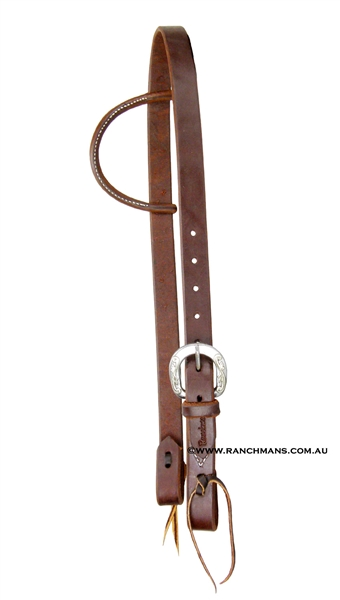 "Ranchmans ""Gunsmoke"" Sliding One Ear Headstall"