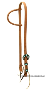 Ranchmans One Ear Harness Headstall w/Southwest Buckle Set