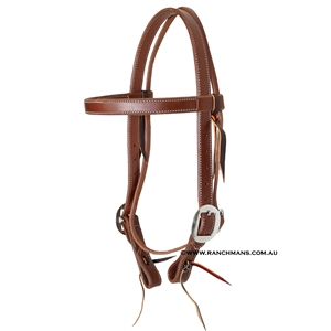 "Ranchmans 1"" Browband Snaffle Bridle w/Cart Buckles"