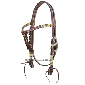 Ranchmans Oiled Futurity Browband Bridle w/Rawhide Trim