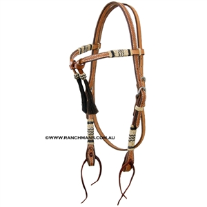 Ranchmans Futurity Browband Bridle w/Rawhide Trim
