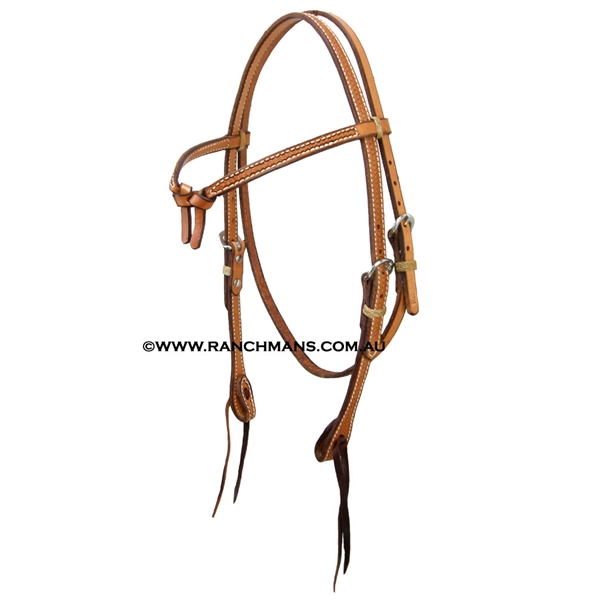 Ranchman's Futurity Knot Basket Stamp Browband Bridle