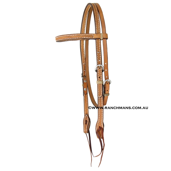 Ranchmans Basket Stamp Browband Bridle