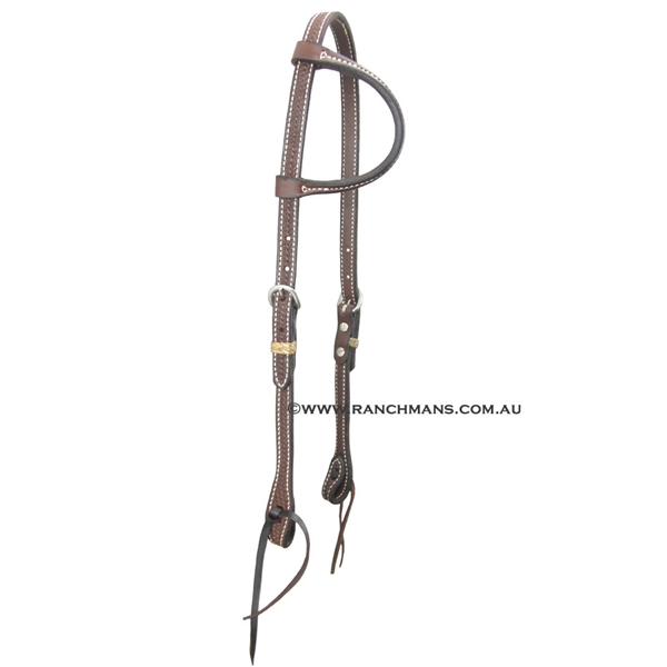 Ranchmans Heavy Oil Basket Stamp One Ear Bridle