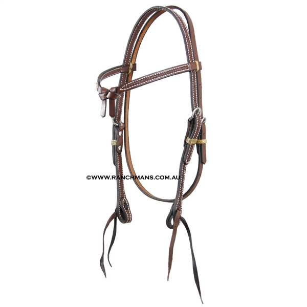 Ranchman's Oiled Futurity Knot Basket Stamp Browband Bridle