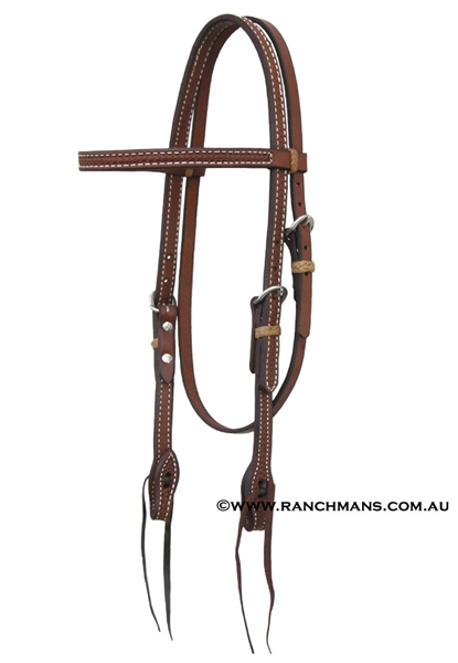 Ranchman's Heavy Oil Basket Stamp Browband Bridle