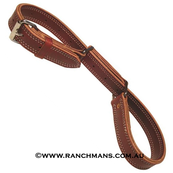 Ranchman's Double & Stitched Figure 8 Leather Hobbles