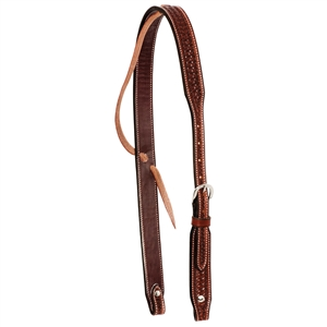 Ranchman's Rosewood Spider Stamp Slip Ear Headstall