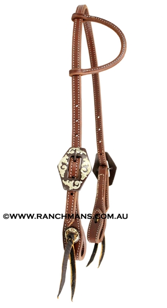 Ranchmans Heavy Oil One Ear Bridle w/Iron Buckles