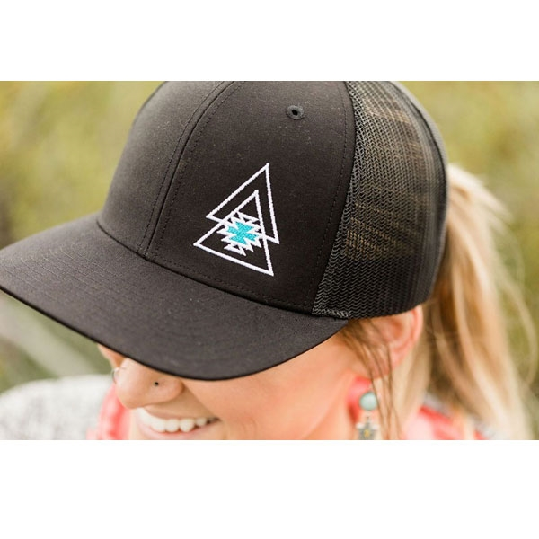 Level Up Apparel® Black Trucker Cap