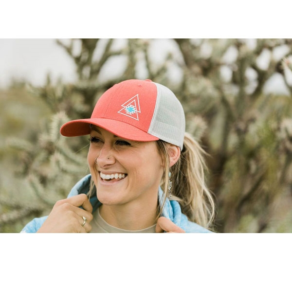 Level Up Apparel® Coral & Red Trucker Cap