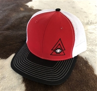 Level Up Apparel® Red,Black & White Cap