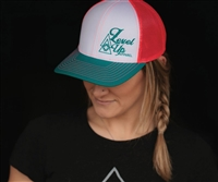 Level Up Apparel® Turquoise & Coral Cap