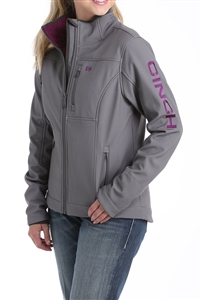 Ladie's Cinch® Concealed Carry Bonded Jacket - Grey/Purple