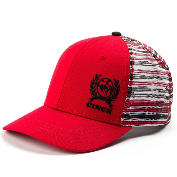 Cinch® Red and Black Stripe Cap