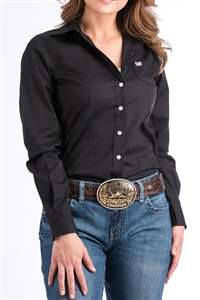 Cinch® Ladies Solid Black Shirt