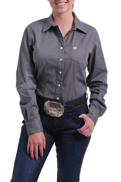 Cinch® Ladies Solid Charcoal Grey Shirt