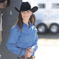Cinch® Ladies Blue Queenie Long Sleeve Shirt