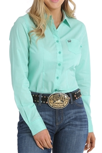 Cinch® Ladies Mint Geometric Print Shirt