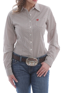 Cinch® Ladies Micro-Geometric Print Shirt