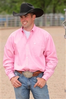 Mens Cinch® Long Sleeve Light Pink Solid Shirt