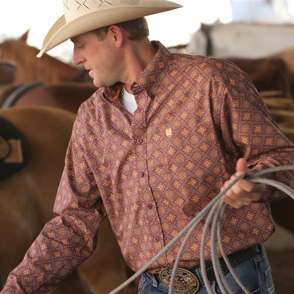 Mens Cinch® Long Sleeve Eko Shirt