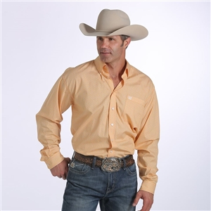 Mens Cinch® Long Sleeve Gold Print Shirt