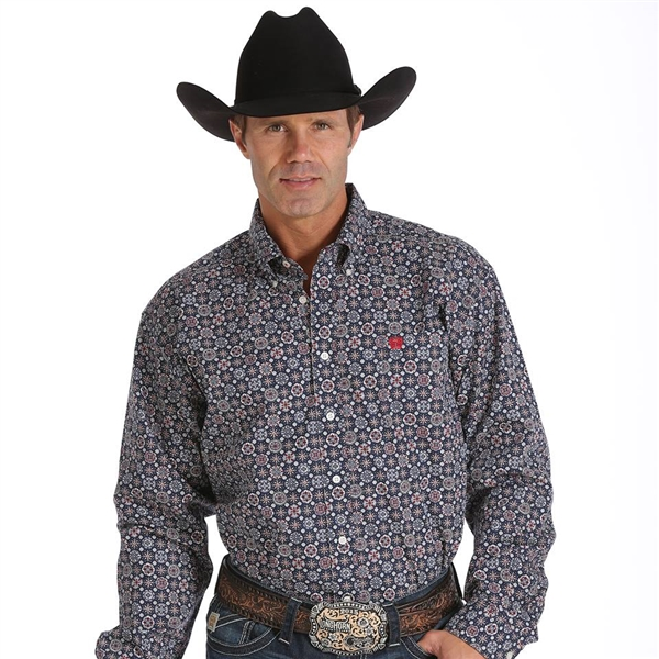 Mens Cinch® Long Sleeve Medallion Shirt