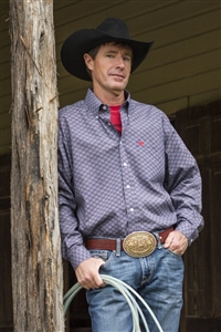 Mens Cinch® Long Sleeve Geo Print Shirt