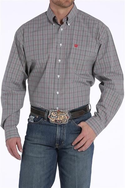 Mens Cinch® Long Sleeve Geometric Stripe Shirt