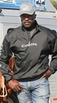 Mens Cinch® Lightweight Black Zipper Windbreaker