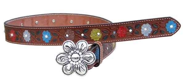 Girls Nocona® Painted Flower Rhinestone Belt