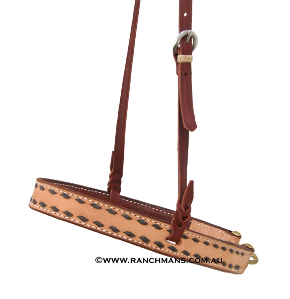Ranchman's Black Buckstitch Tie Down Noseband
