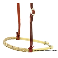 Ranchman's Double Rope Tiedown Noseband w/Rawhide